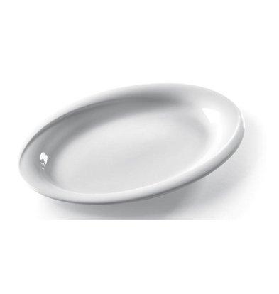 Hendi Scale - Oval - Exclusiv - 290x230x30 mm - Weiß - Porzellan