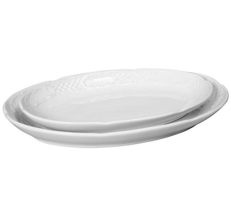 Hendi Scale oval - Flora - 320x230x40 mm - White - Porcelain