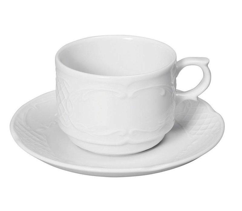 Hendi Cup 180 ml Flora - weißes Porzellan