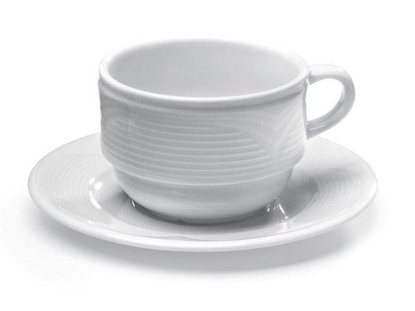 Hendi Cappuccino cup - 230 ml - Saturn - 110x90x60 mm - White - Porcelain