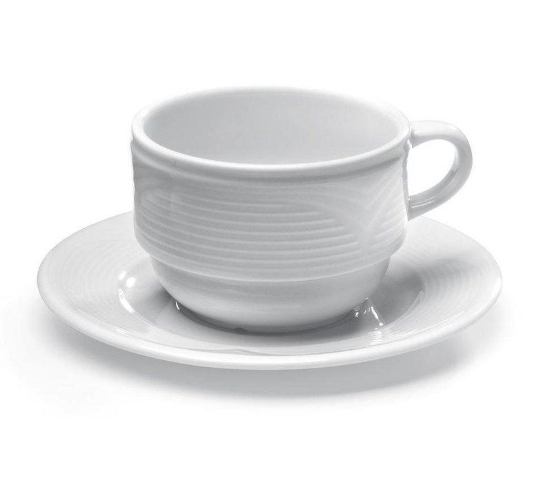 Hendi Cappuccino-Tasse - 230 ml - Saturn - 110x90x60 mm - Weiß - Porzellan