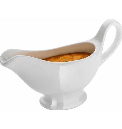 Hendi Weißes Porzellan Sauciere | Radiant White | Spülmaschinenfest | 150 ml | 180x55x (H) 130mm