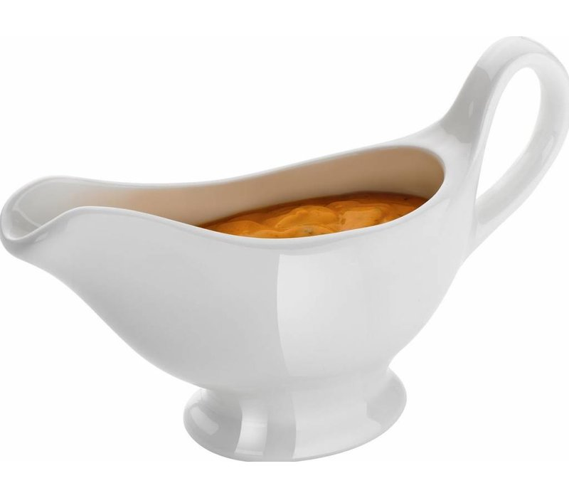 Hendi Sauskom Wit Porselein | Stralend Wit | Vaatwasserbestendig | 150ml | 180x55x(h)130mm