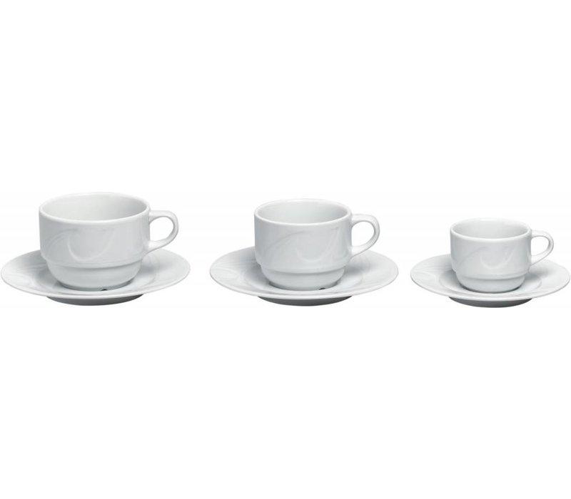 Hendi Dish - Karizma - Ø125mm - for cup 90 ml white porcelain