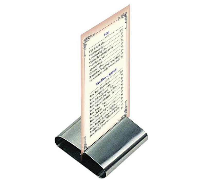 Hendi Menu Holder SS | 80x77x18 | Price per 6 Pieces