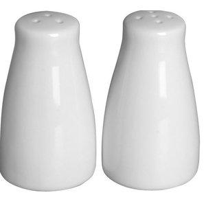 Hendi PeperZoutstrooier Set   Weißes Porzellan   Ø42x (H) 80 mm