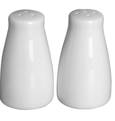 Hendi PeperZoutstrooier Set | Weißes Porzellan | Ø42x (H) 80 mm