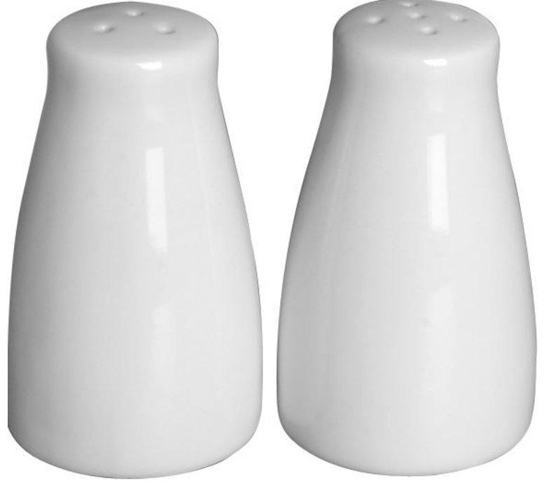 Hendi Peper\Zoutstrooier Set | Wit Porselein | Ø42x(H)80mm