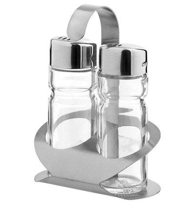 Hendi Menage 2 Stück Luxus | Pfeffer / Salz | 85x55x (H) 115mm