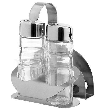 Hendi Menage 3-teilig | Luxus | Pfeffer Salz Servietten | 85x75x (H) 115mm
