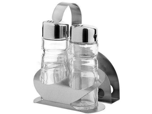 Hendi Menage 3-teilig   Luxus   Pfeffer Salz Servietten   85x75x (H) 115mm
