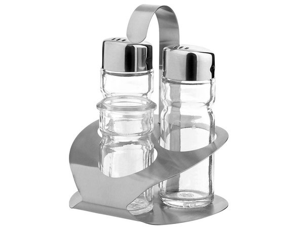 Hendi Menage 3 parts   Luxury   Salt / Pepper / Toothpick   90x90x (H) 115mm