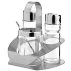 Hendi Menage 3-teilig | Luxus | Pfeffer Salz Senf | 100x95x (H) 115mm