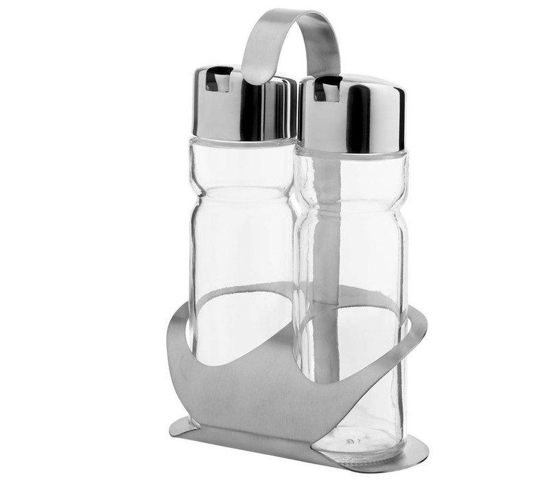 Hendi Menage 2 Stück Luxus | Öle / Essig | 150 ml | 120x75x (H) 185mm