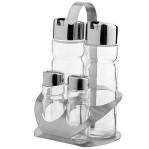 Hendi Menage 4 pcs | Luxury | Oil, Vinegar, Salt, Salt | 130x110x (H) 185mm