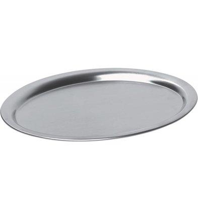Hendi Coffee Plateau Oval   Stainless Steel Satin Finish   200x140mm