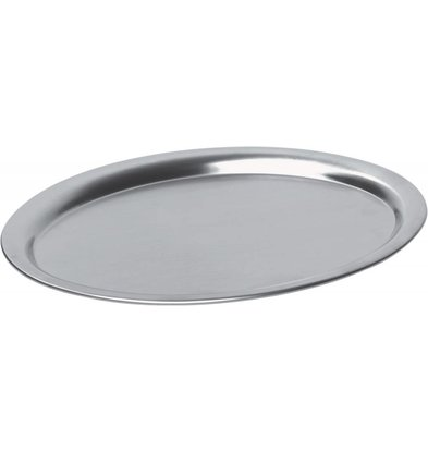 Hendi Coffee Plateau Oval | Edelstahl | Satin Finish | 265x195mm