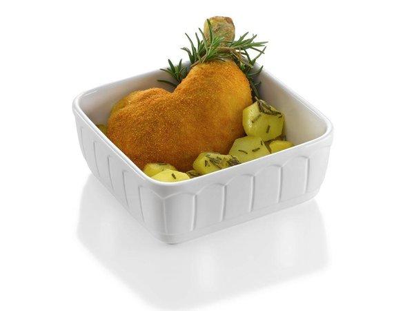 Hendi Oven dish - Square - Rustika - 165x165x70 mm - White - Porcelain