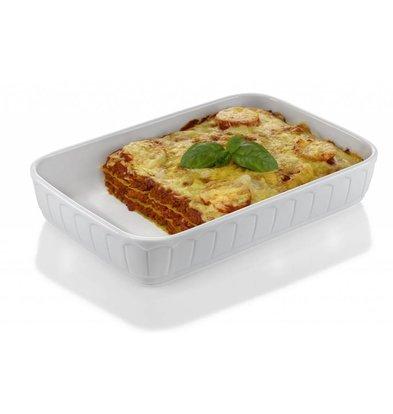 Hendi Oven dish - Rectangle - Rustika - 330x225x70 mm - White - Porcelain