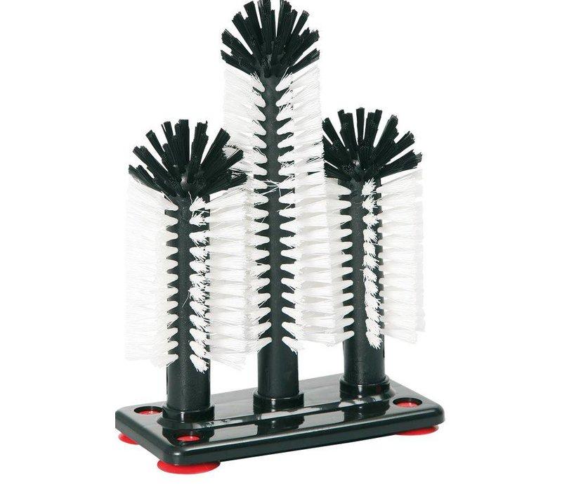 Hendi Glasswasher Brush 3 Brushes - 18x25x18cm