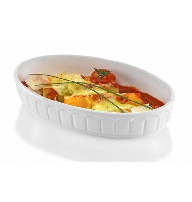 Hendi Oven dish - Oval - Rustika - 245x145x55 (H) mm - White - Porcelain