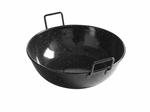 Hendi Serving plate deep 24 cm - enamelled with handles