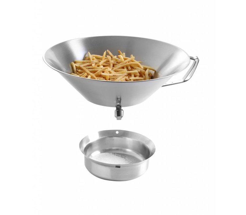 Hendi Colander stainless steel frying | With Removable bottom tray | Ø410x (H) 170mm