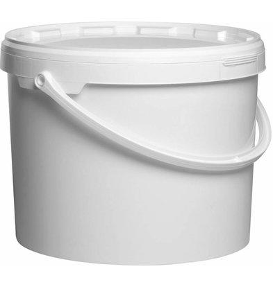 Hendi Emmer met Deksel 22x29cm - 11,5 Liter wit PP