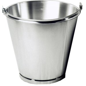 Hendi Bucket with foot stainless steel 300x290 mm - 12 l graduated