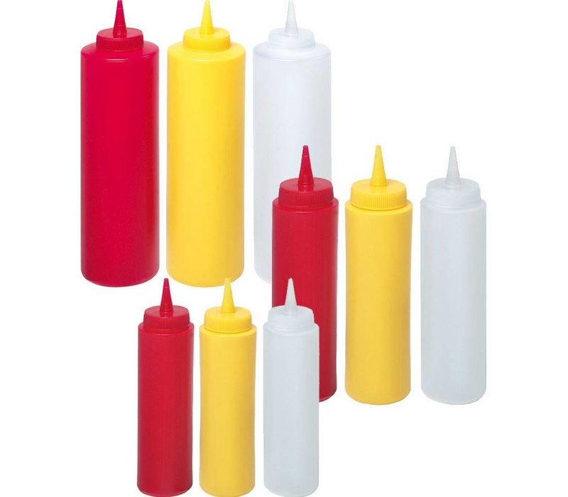 Hendi Dispenser bottle Yellow   20 cl   PE cap PC   50x (H) 185mm