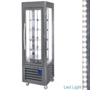 Diamond Koelvitrine 360 Liter - 5 levels draaiend - Antraciet - 60x63x(h)185cm