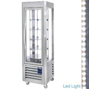 Diamond Kühlvitrine 360 Liter - Edelstahl - 60x63x (h) 185cm - 5 Stufen Lauf