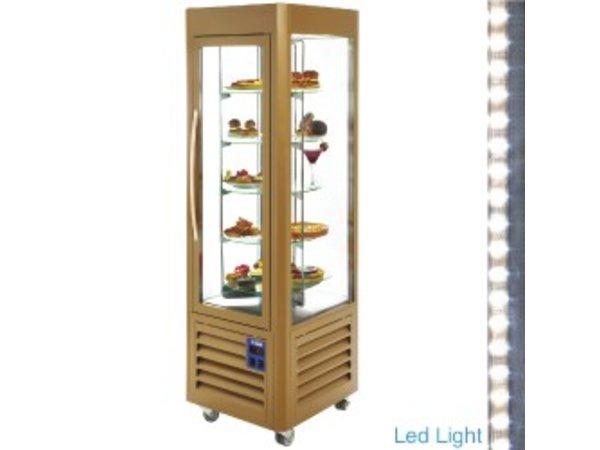Diamond Refrigerated display case 360 Liter - five levels running - Gold - 60x63x (h) 185cm
