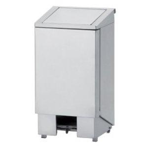 Diamond Abfallbehälter aus Edelstahl mit Pedal - 120 Liter
