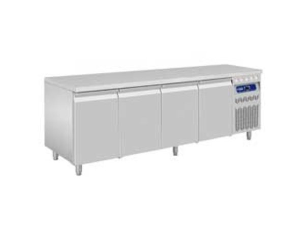Diamond Koelwerkbank - RVS - 4 Deurs - 219x70x(h)85/90cm - 550 Liter - DELUXE
