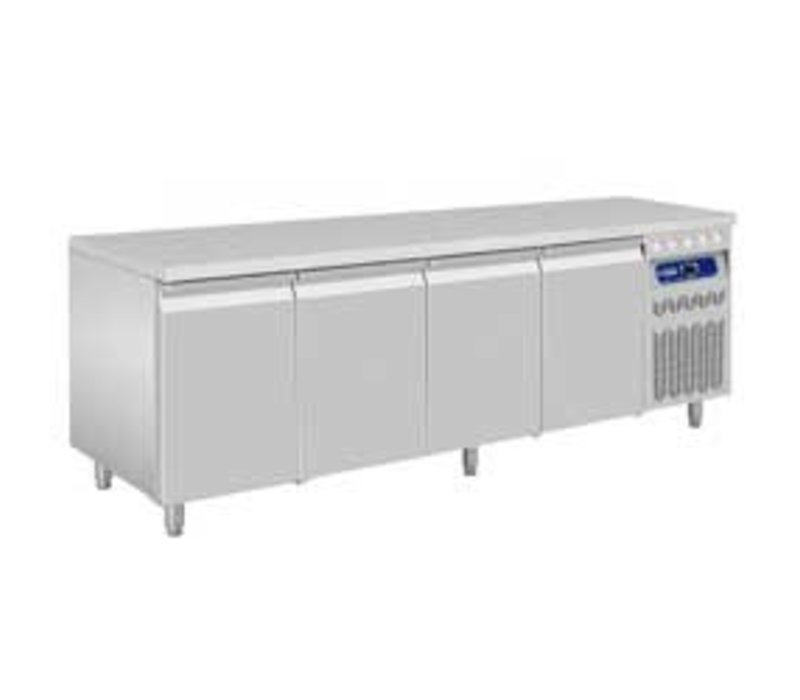 Diamond Coole Workbench - RVS - 4 Türen - 219x70x (h) 85 / 90cm - 550 Liter - DELUXE