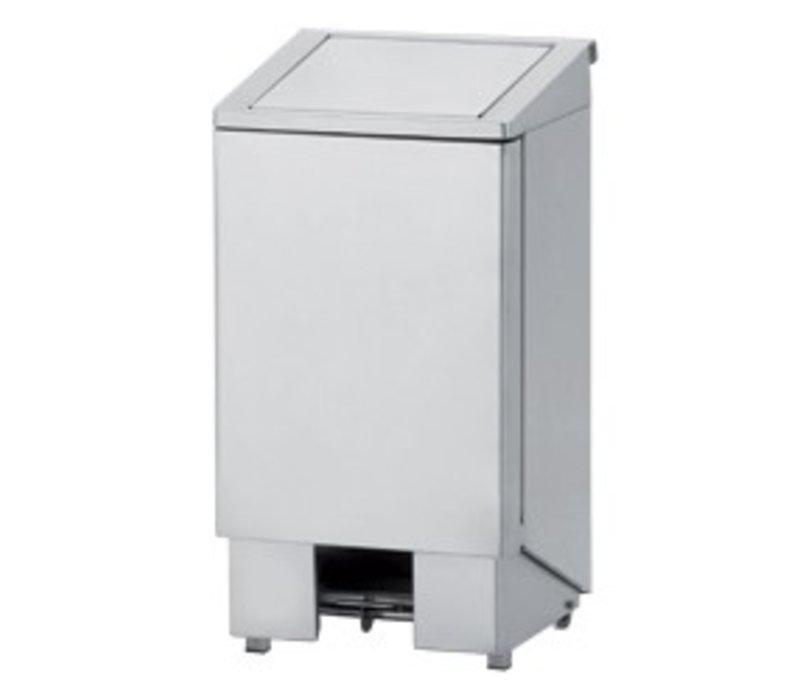 Diamond Abfallbehälter aus Edelstahl mit Pedal - 60 Liter