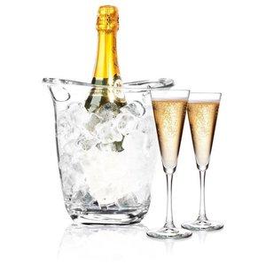 Hendi Wine cooler transparent SAN - 22cm x 18,5cm x 22.6 (h) cm