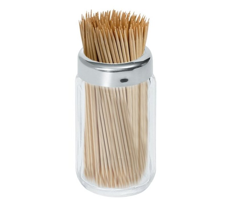 Hendi Toothpick Holder Glass | With stainless steel cap | Per 6 Pieces | Ø40x (H) 70mm