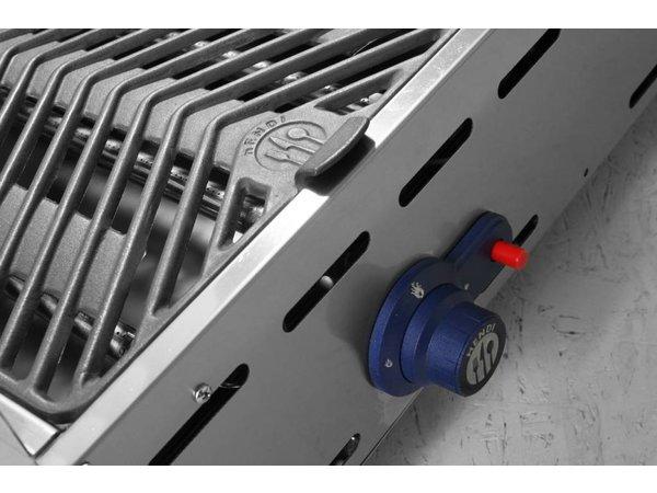 Hendi Hendi Green Fire Grill Propane XXL | 4 Brenner + Räder | BBQ PRO 1400x612x (h) 825 mm | VIDEO