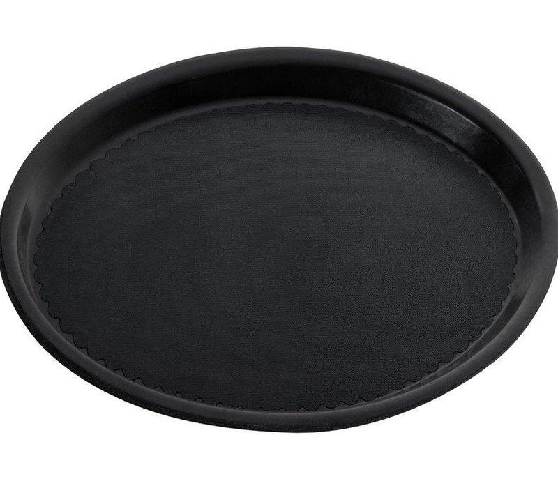 Hendi Tray Black Circle   Non-slip coating   Shock / Break-resistant   Ø410mm