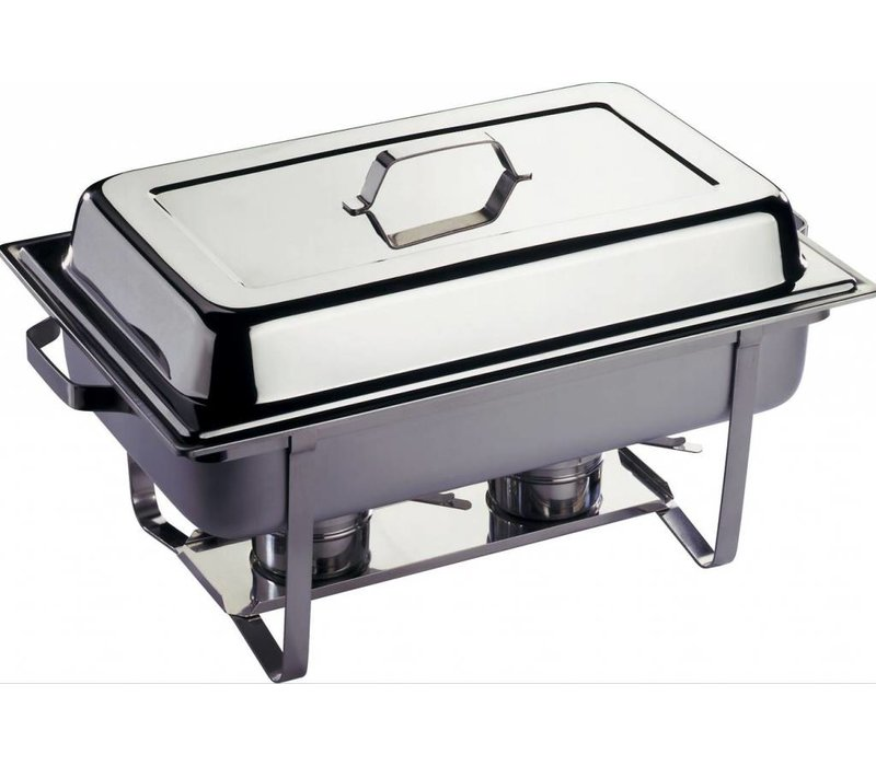 Hendi 2xChafing Dish 1/1 GN | Complete Duopack | 9 Liter | 620x350x (H) 310 mm | XXL OFFER!
