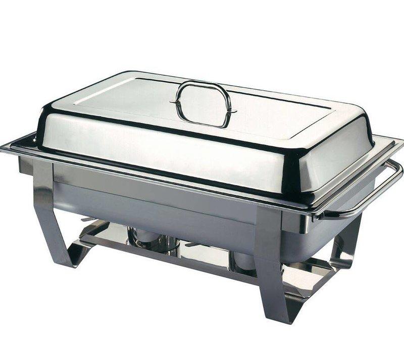 Hendi Chafing Dish Set + 5 zusätzliche Fächer | Edelstahl | 585x385x (H) 315mm