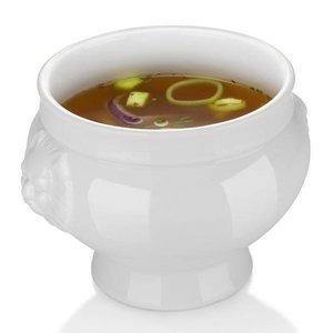 Hendi Suppenschüssel - 250 ml - Lionhead - 112x78 mm - Weiß - Porzellan