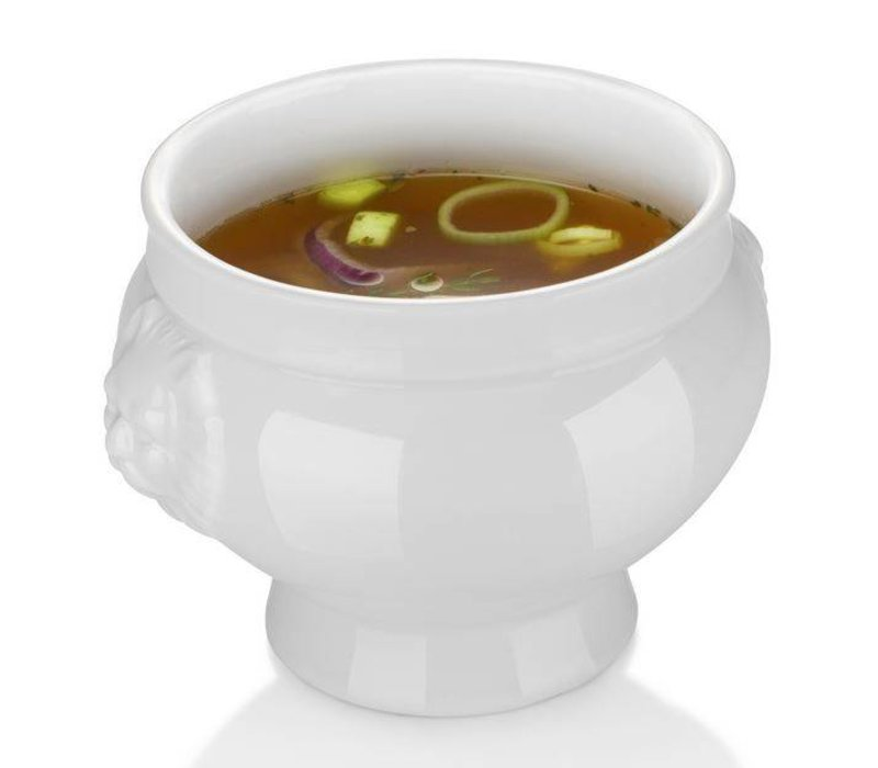 Hendi Soup bowl - 250 ml - Lionhead - 112x78 mm - White - Porcelain