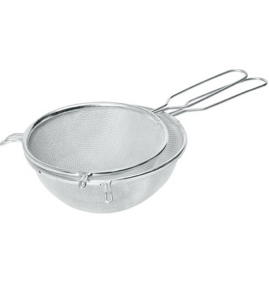 Hendi Pass through sieve tin 180x340 mm - with wire handle
