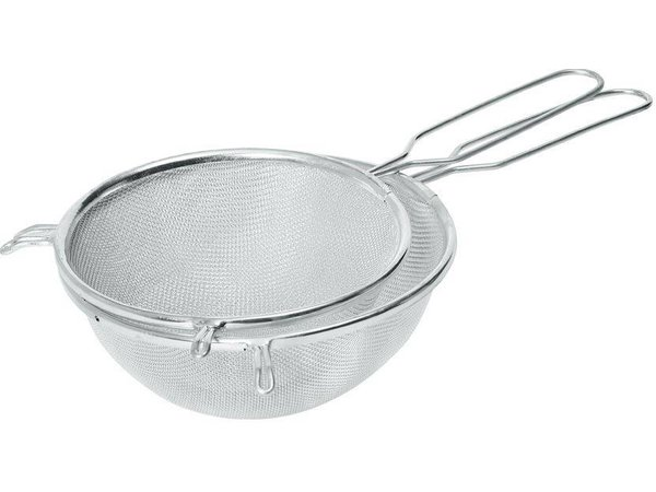 Hendi Pass through sieve tin 180x340 mm - with wire handle