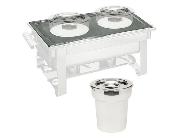 Hendi Bain-Marie Topf w / Deckel 4,2 l - für Thermo-System + Chaf.dish