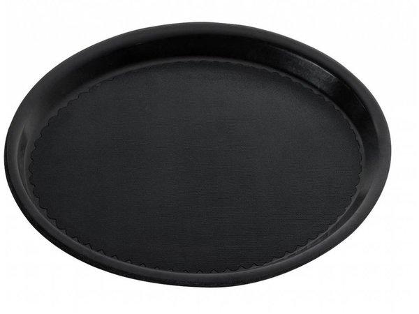Hendi Tablett Black Circle | Anti-Rutsch-Beschichtung | Polyform | Shock / Bruchsichere | Ø360mm