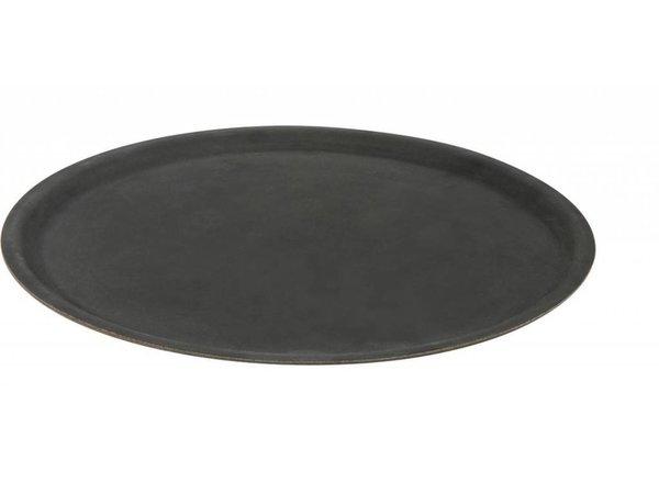 Hendi Tray Black Circle   Rubber Form   Non-slip coating   Shock / Break-resistant   Ø400mm
